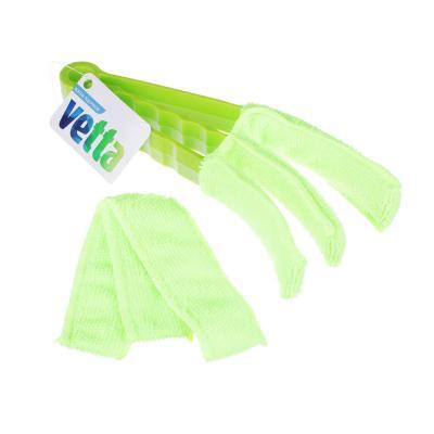 448-007 Щетка с насадкой из микрофибры для жалюзей, VETTA