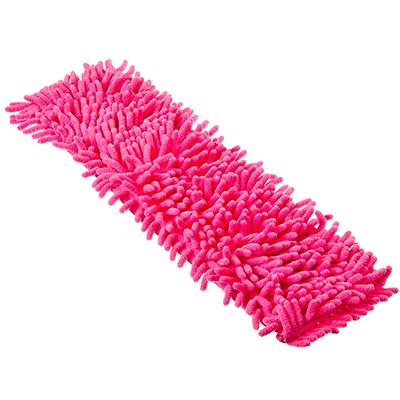 """448-016 VETTA Насадка для швабры из микрофибры, подкладка полиэстер, 10х40см, """"Лапша"""", 4 цвета, 3702"""