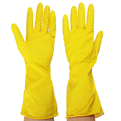 447-004 Перчатки резиновые желтые, S, VETTA