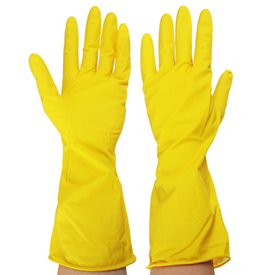 447-005 Перчатки резиновые желтые, M, VETTA