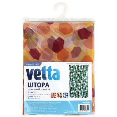 461-068 VETTA Шторка для ванной, ПЕВА, 180x180см, 4 цвета