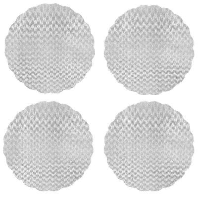436-075 Набор противоскользящих салфеток 4шт., ПВХ, d32см, 4 цвета, VETTA