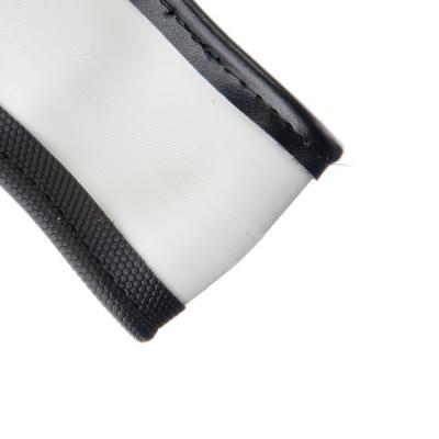 "708-398 NEW GALAXY Оплетка руля, спонж, со вставками ""крокодил"",серый, разм. (M)"
