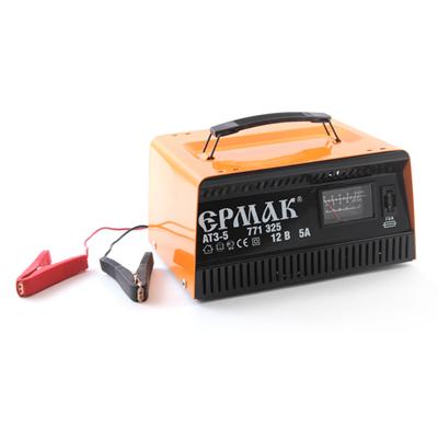771-325 ЕРМАК Зарядное устройство трансформаторное автомат АТЗ-5 (max 5A/12V), металл корпус