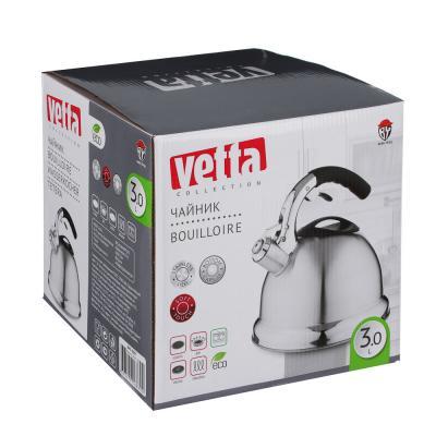 847-009 Чайник со свистком 3,0 л VETTA Вена, нержавейка, индукция