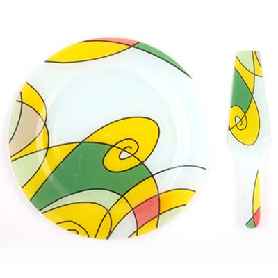 818-556 VETTA Набор для торта 2 пр., стекло, d30,5см, в подар.уп, Эмили S3000/2 PDQ