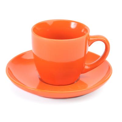 816-346 VETTA Атон Чайный набор 2 пр. оранжевый керамика 220мл