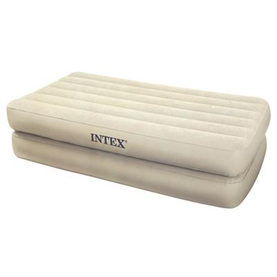 359-402 INTEX Кровать флок Comfort, встр.элнасос, 99*191*48 см, коробка с ручкой,сумка, 66708