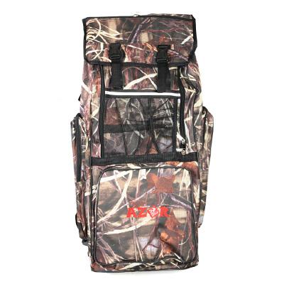 338-354 AZOR Сумка-рюкзак рыбака, полиэстер, DS-70л, 420 Den, камуфляж-ветки
