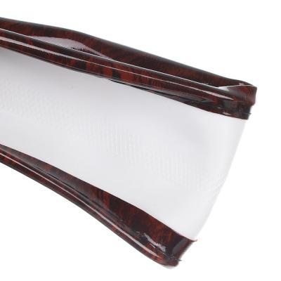 """708-430 NEW GALAXY Оплетка руля, гелевая, со вставками """"красное дерево"""", черный, разм. (М)"""
