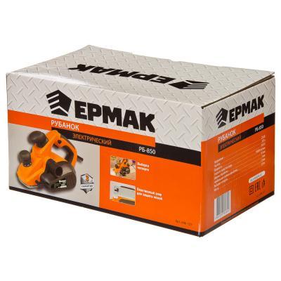 646-127 ЕРМАК Рубанок электр. РБ-850, 850Вт, 82мм, 16000 об/мин, макс. глуб. 3мм, выборка четв. до 11,5мм