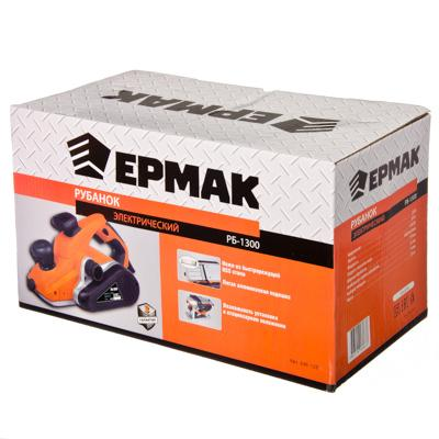 646-128 ЕРМАК Рубанок электр. РБ-1300, 1300Вт,110 мм,16000 об/мин, макс. глуб.3,5мм, HSS ножи, стацион. уст.