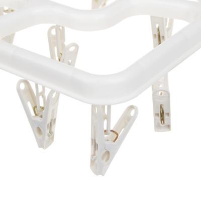 453-128 VETTA Сушилка для белья подвесная квадратная с прищепками 16 шт., пластик, 3 цвета