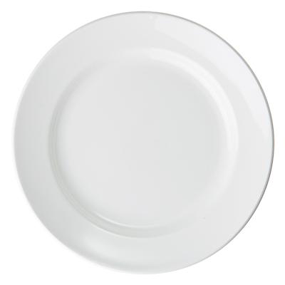 814-035 Без рисунка Тарелка мелкая, 20см, фаянс, 056