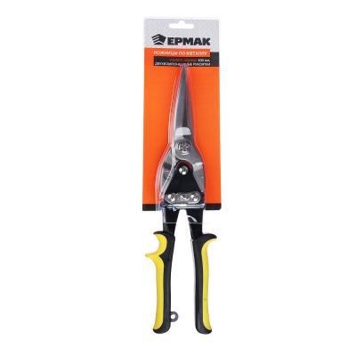 664-032 ЕРМАК Ножницы по металлу 300мм с двук. ручками универсальные