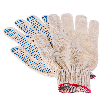 446-014 Перчатки вязаные х/б с ПВХ напылением 10класс