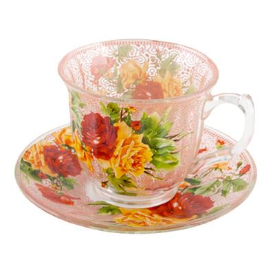 802-045 Набор чайный 2 пр. Ариана 230 мл, стекло, подар.уп 10GF49-IV-1