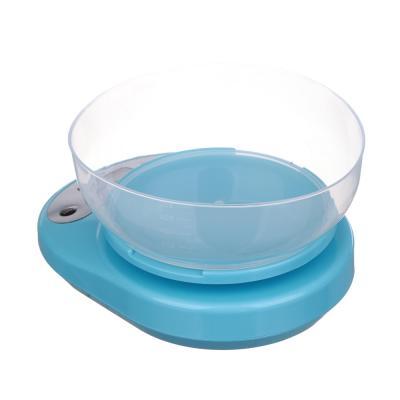 487-002 VETTA Весы кухонные электрон., ЖК-дисплей, с пластиковой чашей 1л, нагрузка до 5кг, 3 цвета