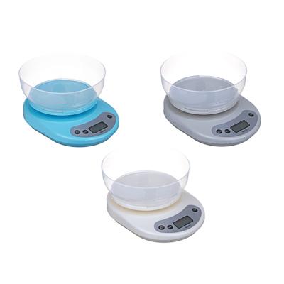 487-002 Весы кухонные электрон., ЖК-дисплей, с пластиковой чашей 1л, нагрузка до 5кг, 4 цвета, арт.СХ-046