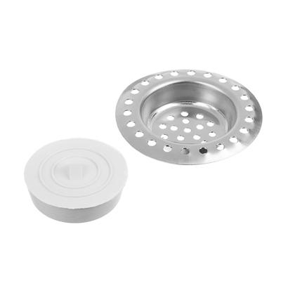 889-038 Набор для раковины решетка и пробка d.6 см, нержавеющая сталь