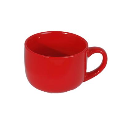 816-024 VETTA Иштар Бульонница красная керамика 500мл