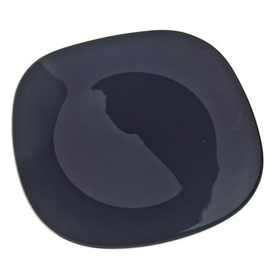 816-029 VETTA Бау Тарелка подстановочная квадратная черная керамика 28,5см