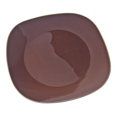 816-037 VETTA Гирра Тарелка подстановочная квадратная коричневая керамика 28,5см