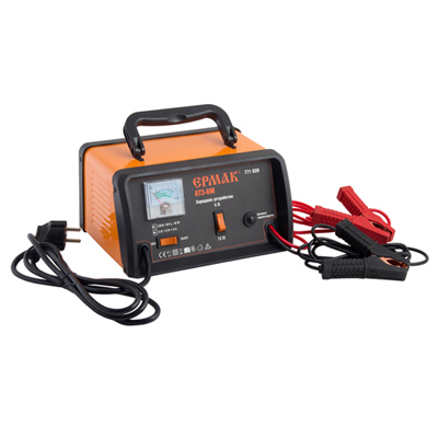 Зарядное устройство трансформаторное автомат АТЗ-6М, 6A, 6В/12В, металлический корпус,