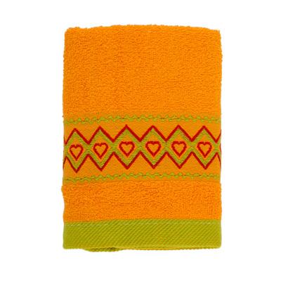 484-021 VETTA Полотенце махровое, 100% хлопок, 35x70см, Spain, жёлтое