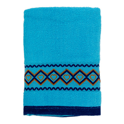 484-027 VETTA Полотенце махровое, 100% хлопок, 50x90см, Spain голубое