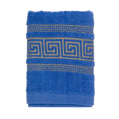 484-029 VETTA Полотенце махровое, 100% хлопок, 35x70см, Greece, синее