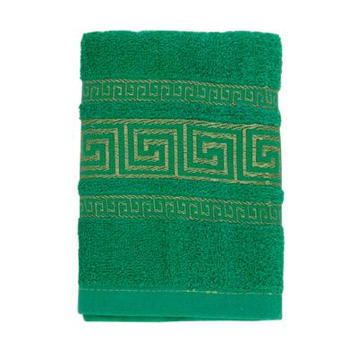 484-031 VETTA Полотенце махровое, 100% хлопок, 35x70см, Greece, зелёное