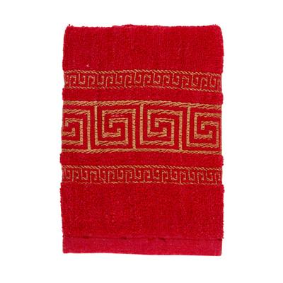 484-032 VETTA Полотенце махровое, 100% хлопок, 35x70см, Greece, красное