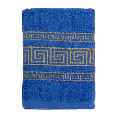 484-033 VETTA Полотенце махровое, 100% хлопок, 50x90см, Greece синее