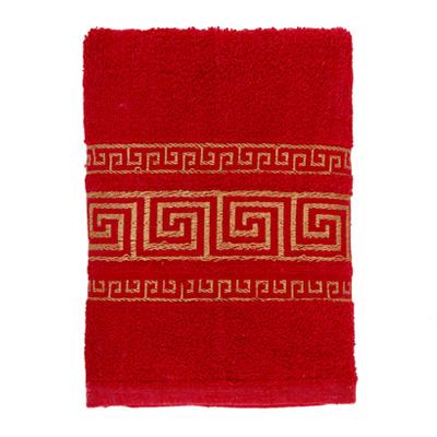 484-036 VETTA Полотенце махровое, 100% хлопок, 50x90см, Greece красное