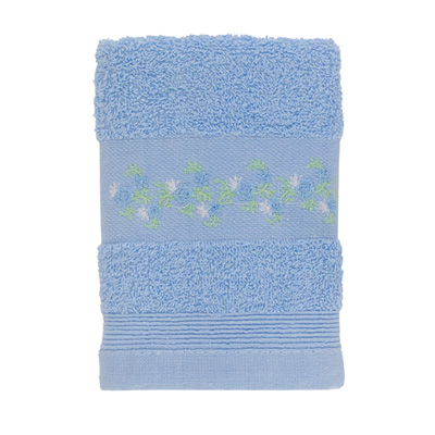 484-042 VETTA Полотенце махровое, 100% хлопок, 35x70см, Slovenia, голубое