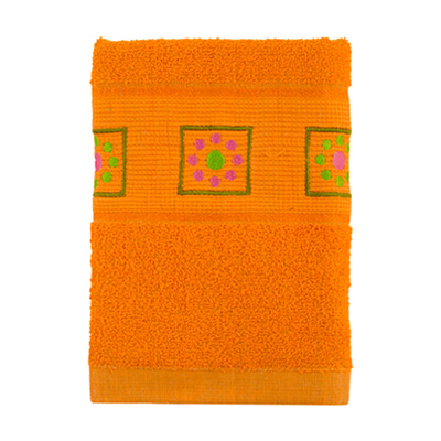 484-054 VETTA Полотенце махровое, 100% хлопок, 50x90см, Tunisia оранжевое