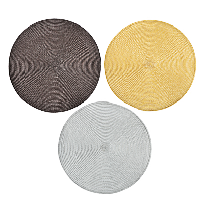 890-019 Салфетка плетеная пластик, d39см, 3 цвета