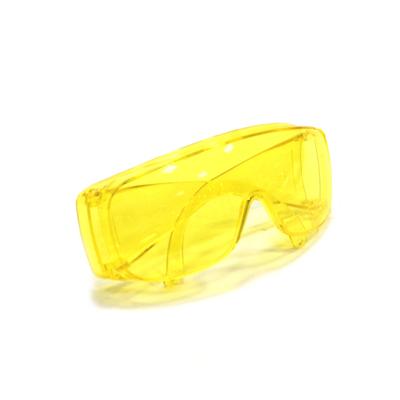 686-185 Очки защитные с дужками открытого типа, желтые, ударопрочный поликарбонат