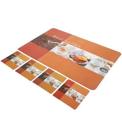 "890-064 Набор термосалфеток 8шт (4шт 42x28см + 4шт 9x9см),""Чашка кофе"", 4 дизайна"
