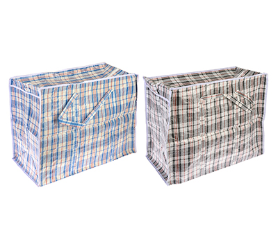 """467-039 Сумка хозяйственная, нетканый материал, 60x50x30см, """"Клетка"""", 2 цвета"""