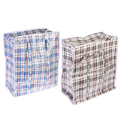 """467-040 Сумка хозяйственная, нетканый материал, 55x65x30см, """"Клетка"""", 2 цвета"""