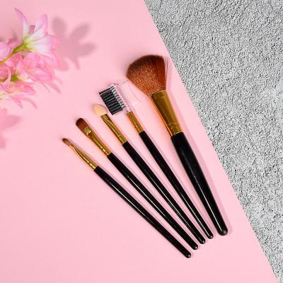 305-358 Набор кистей для макияжа 5шт, пластик, синтетич.нейлон, 16см, 3 цвета