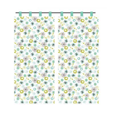 439-066 VETTA Kitchen шторы на окно (2 полотна) 0,75х170см PE SKY BLUE