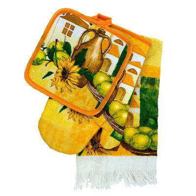 439-103 VETTA Kitchen Набор кухонный 3 пр. (варежка+прихватка+полотенце) F0083