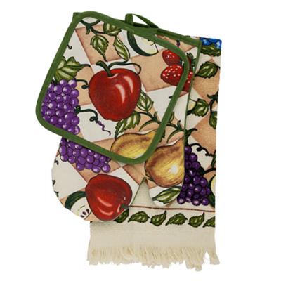 439-104 VETTA Kitchen Набор кухонный 3 пр. (варежка+прихватка+полотенце) F9827