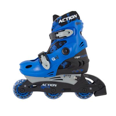 129-377 Action Коньки роликовые раздвижные р.L(38-41), PW-129C синий