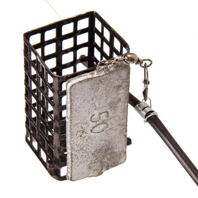 338-066 AZOR Снасть фидерная оснащенная, металл, пластик, кормушка 50 гр