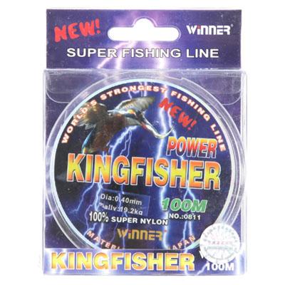 338-179 AZOR Леска winner 0811 Kingfisher размер 0,14 голубая 100м