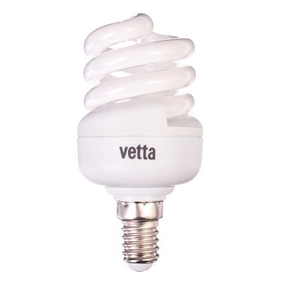 925-377 VETTA Лампа энергосберегающая E14 11W 4100K полн. спираль, трубка Т2
